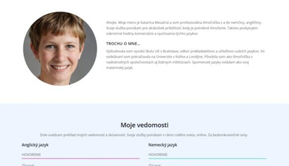 osobny web cv