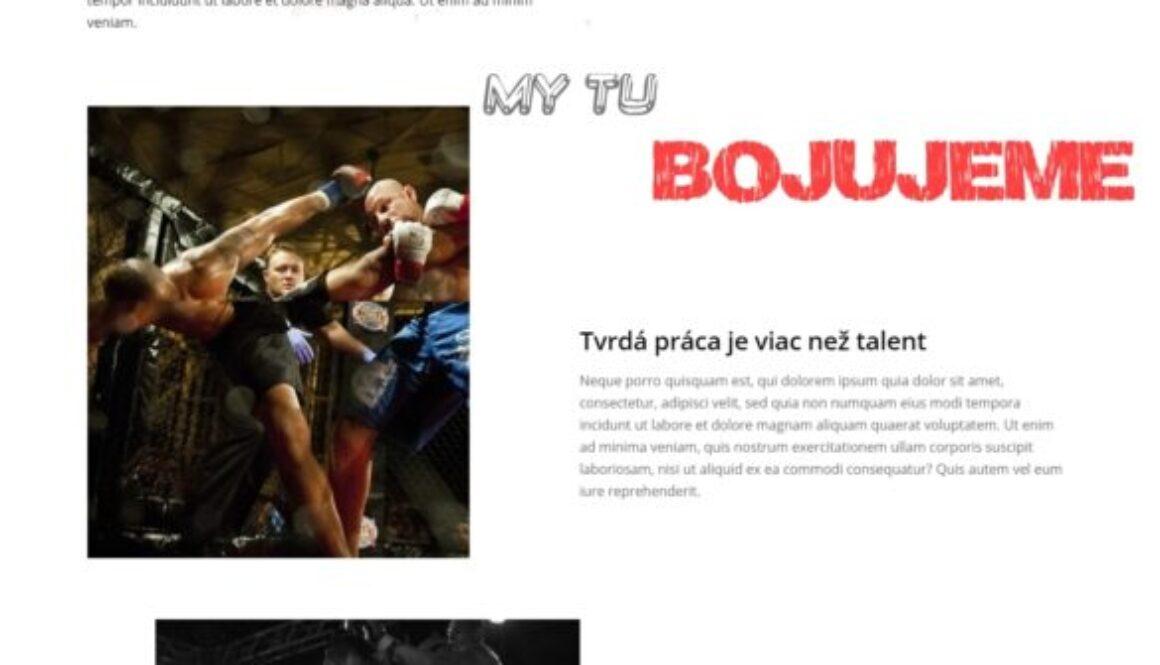 prezentacny fitness trener web