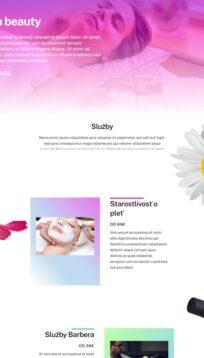 webstránka pre beauty