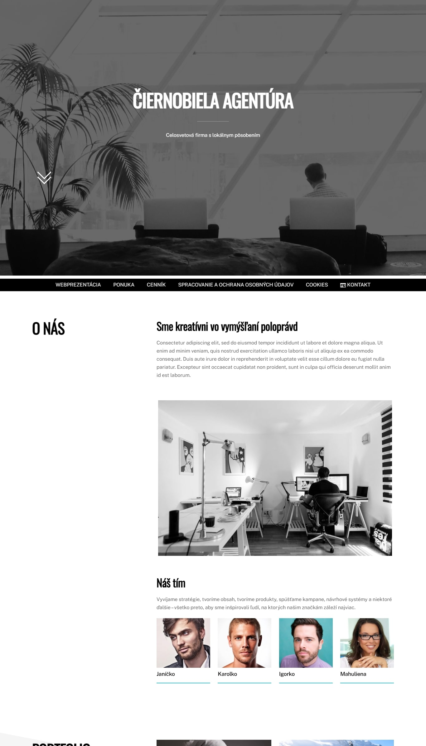 moderné webstránky