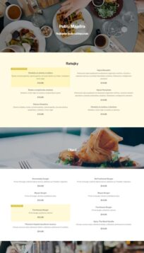 menu webstranky