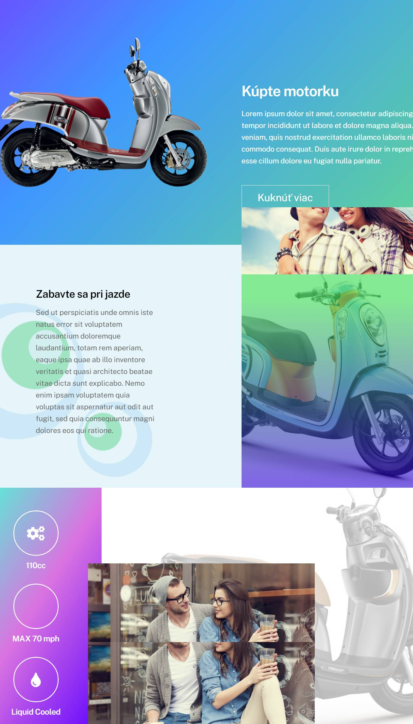webstránka pre predaj
