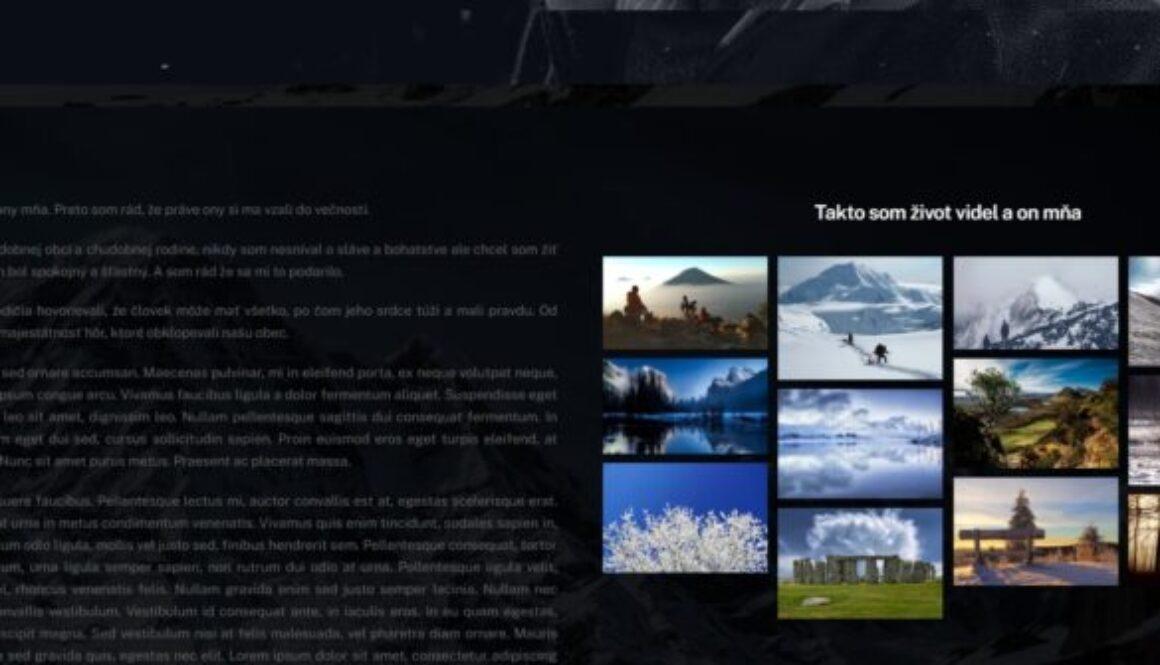 webstránka pre spomienku