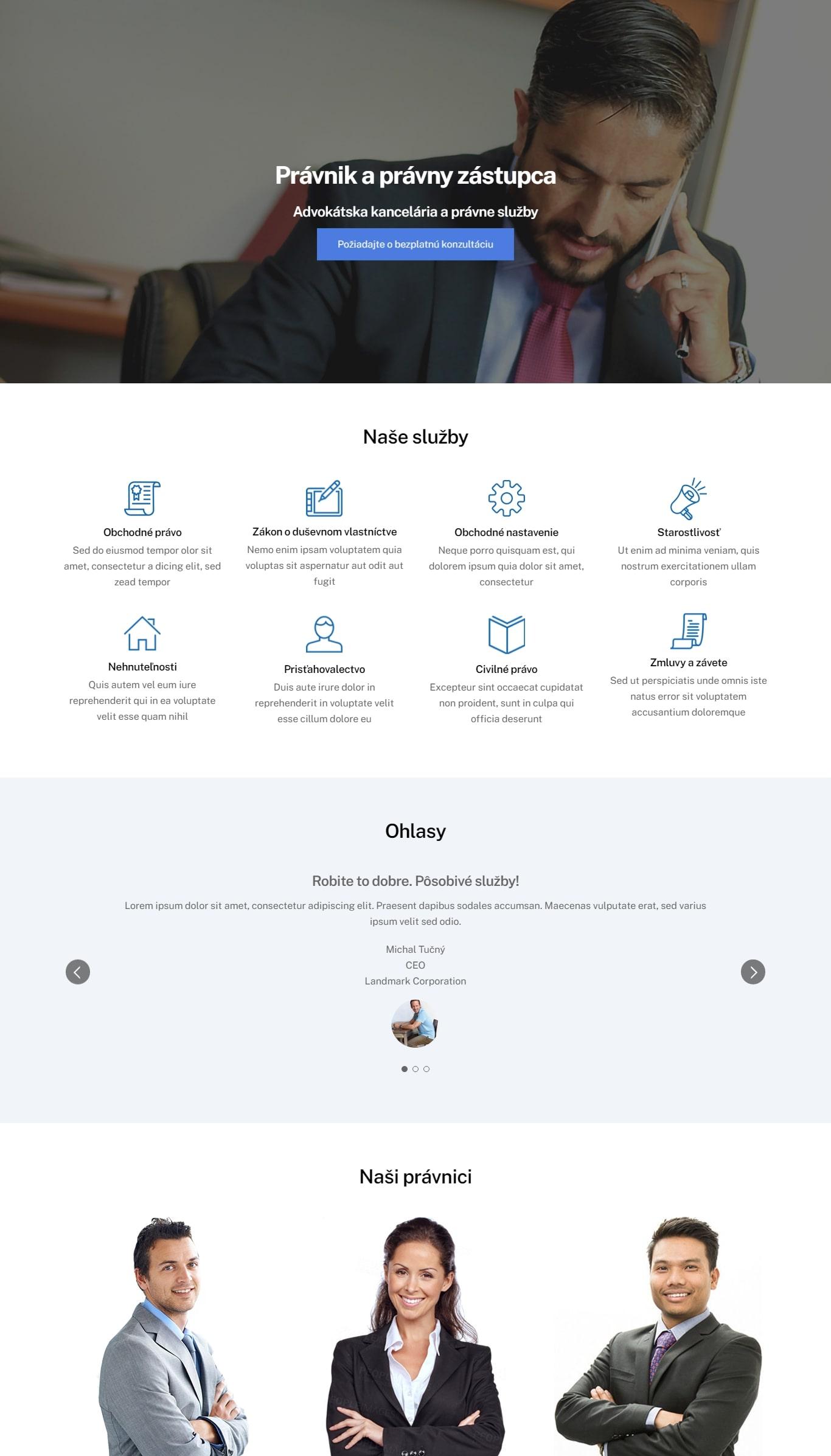 webbstránky pre biznis