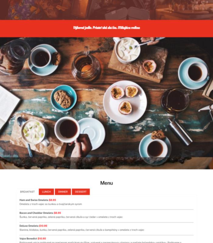 food webstránky