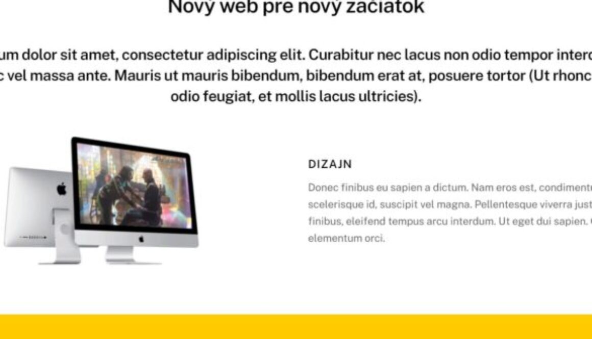 nový web produkt